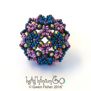Buckyball Beaded Bead