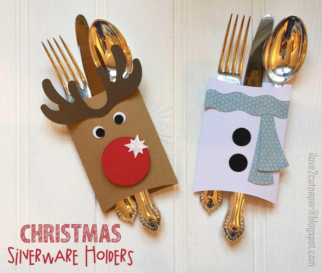 i love 2 cut paper: Christmas Silverware Holders - VIDEO ...