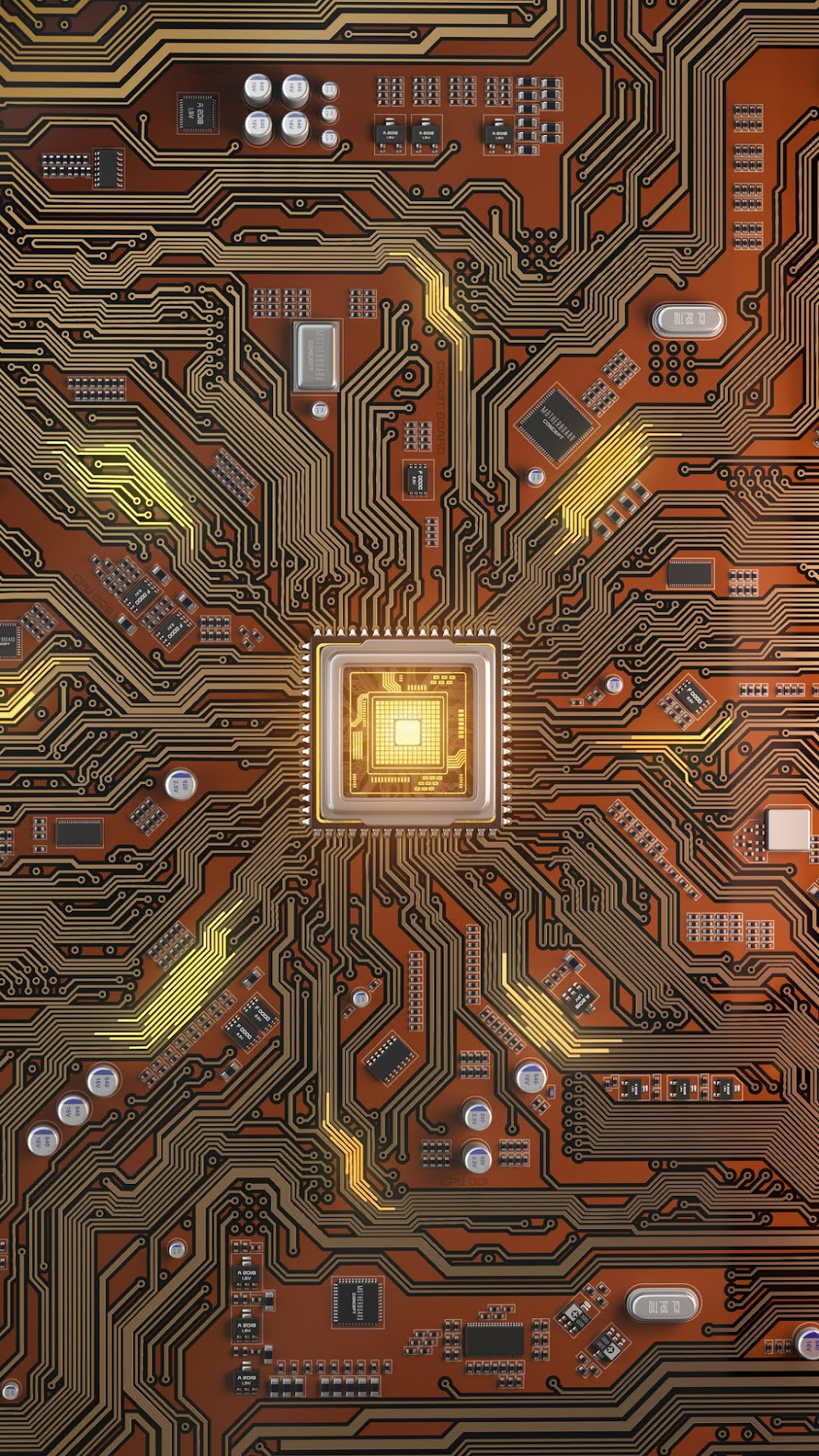 Circuit Board Phone Wallpaper Collection
