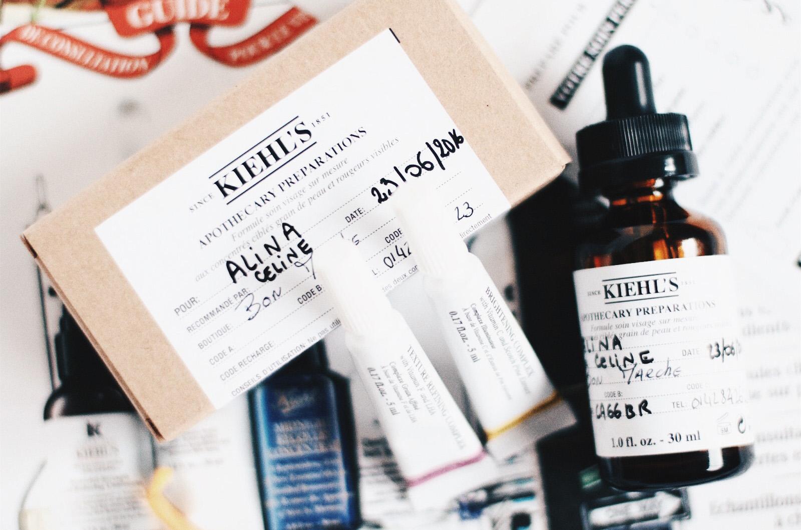 kiehls apothecary preparations soin personalisé avis test