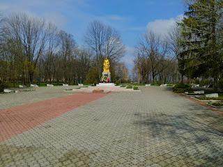 Бобринець. Парк ім. Кропивницького. Військовий меморіал