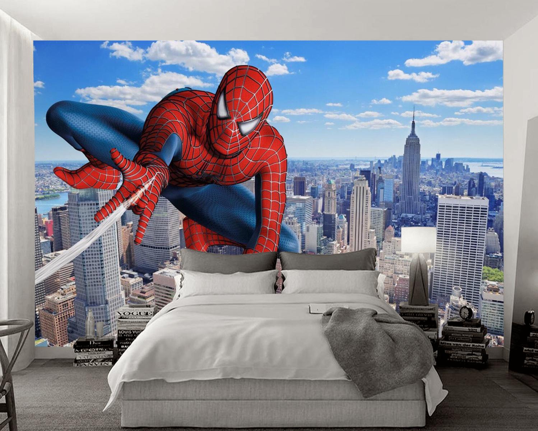 Tranh 3D Siêu Nhân Phòng Ngủ Bé TRai Đẹp