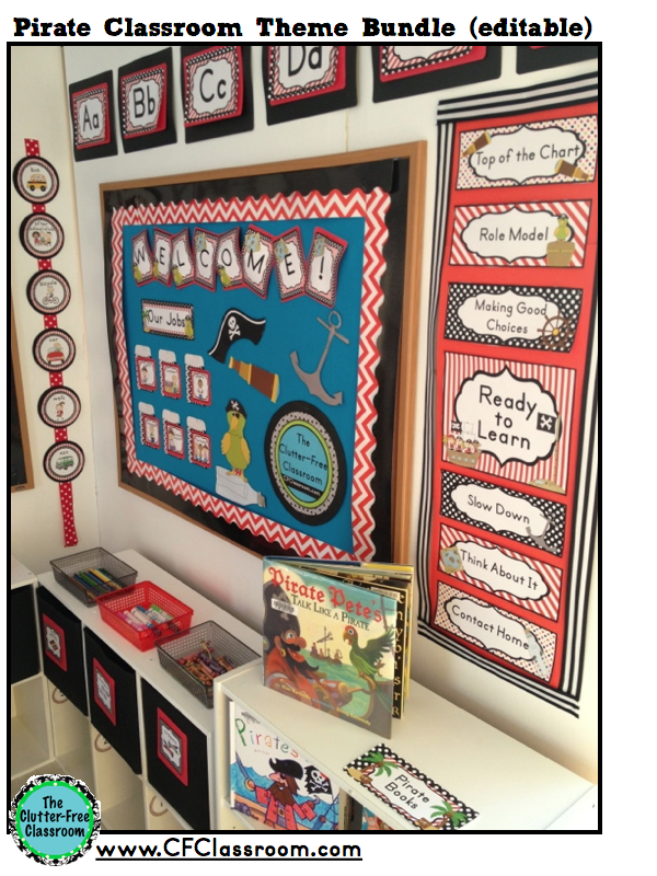 Classroom Decor Nautical ~ Pirates nautical themed classrooms clutter free classroom