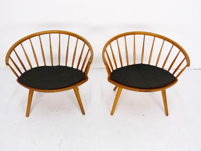Mid-Century Pair of Arka Chairs by Yngve Ekström 2