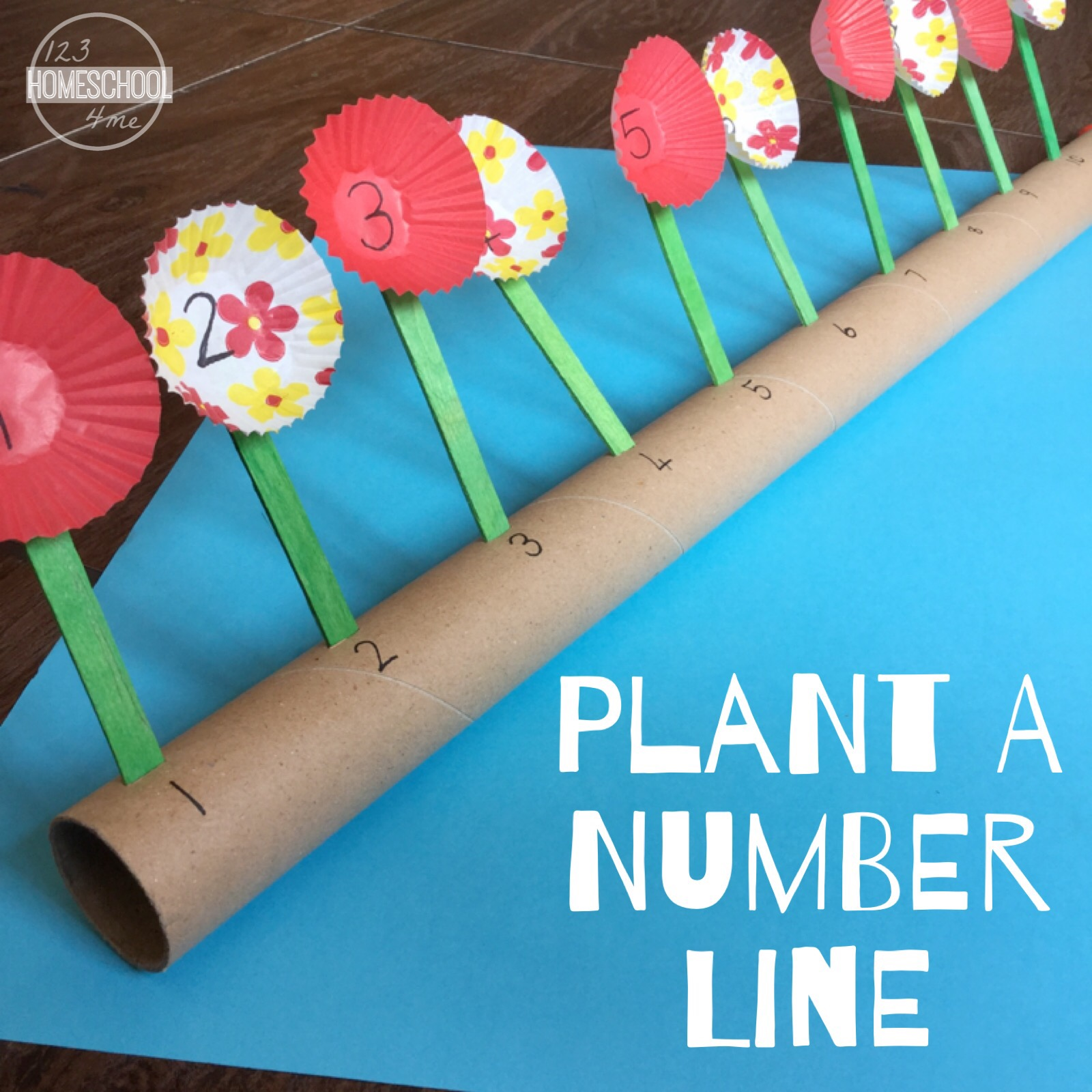Plant a Number Line Math Game