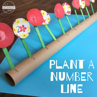 plant a number line counting activity for toddler, preschool, kindergarten