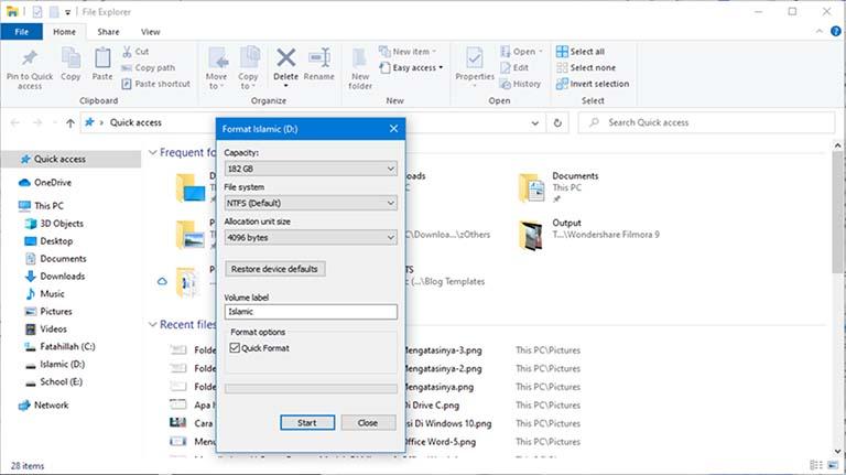 Apa Perbedaan Antara Quick Format Dan Full Format?