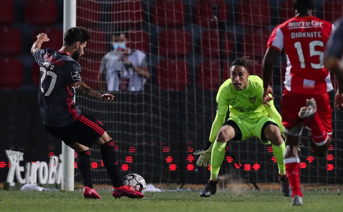 O momento em que Rafa abre o marcador para o Benfica