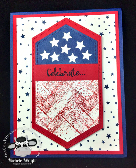 Card, 4th of July, Independence Day, Flag