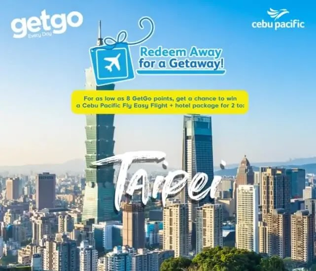 Redeem GetGo points for a free getaway with Redeem Away Promo