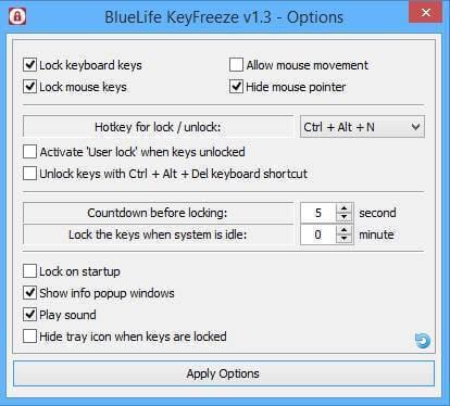 خدعة تعطل الكيبورد والماوس لمن يتطفل على حاسبك - KeyFreeze blocks keyboard and mouse