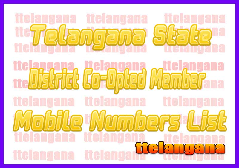 Medak District Co-Opted Member Mobile Numbers List in Telangana State