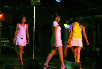 attractive Burmese show girls in the night