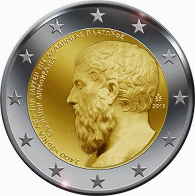 2 Euro Commemorative Coins Greece 2013 Plato's Academy