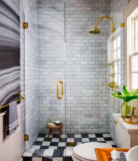ديكور حمامات صغيرة وبسيط، صور حمامات عصرية أنيقة
