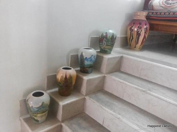Floor Vase Decoration Ideas | Painted Floor Vase Home ...