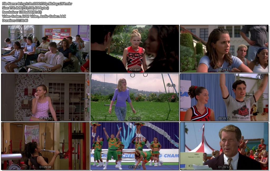 Bring It On 2000 720p BluRay 750MB x264 Movie Screenshots