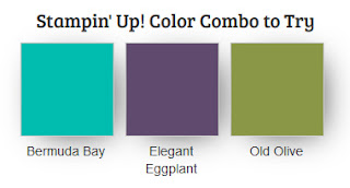 Stampin' Up! Color Combo to Try: Bermuda Bay, Elegant Eggplant, Old Olive