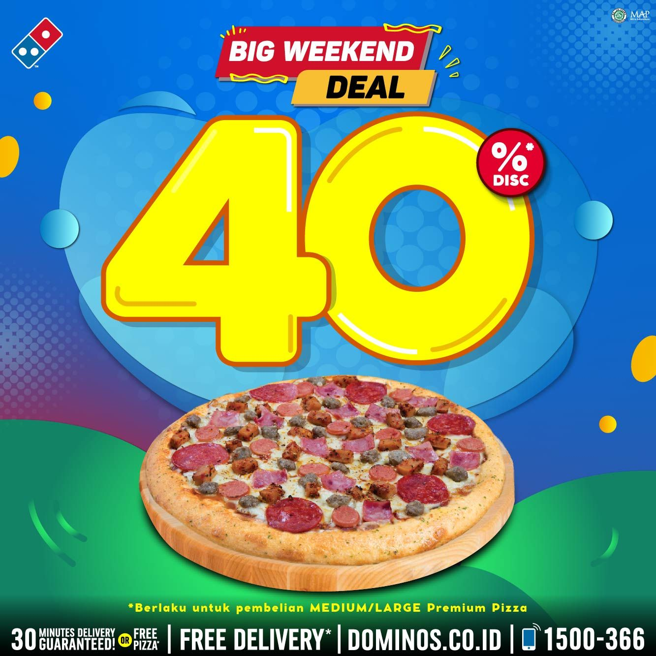 Promo Dominos Pizza Big Weekend Deal 40 Periode 17 19 Juli 2020 Harga Diskon