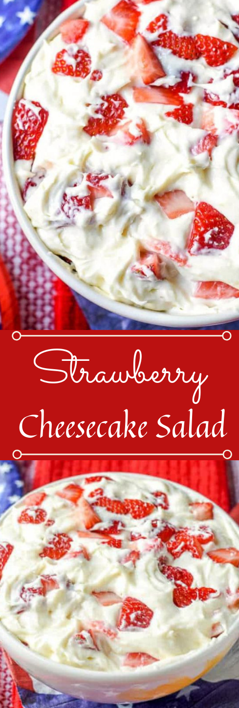 STRAWBERRY CHEESECAKE SALAD #diet #healthyfood #meal #salad #dessert