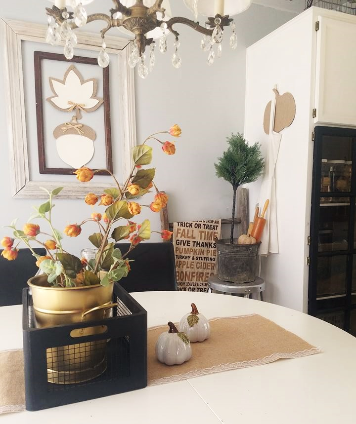 Fall Decorating Ideas For The Dining Room: The Quaint Sanctuary: { Modern Cottage & Farmhouse Fall