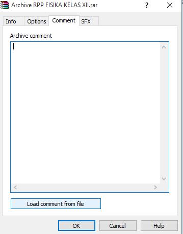 Cara membuat coment pada RAR