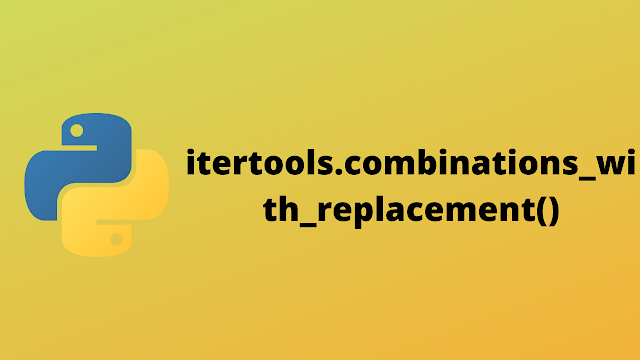 HackerRank itertools.combinations_with_replacement() solution in python
