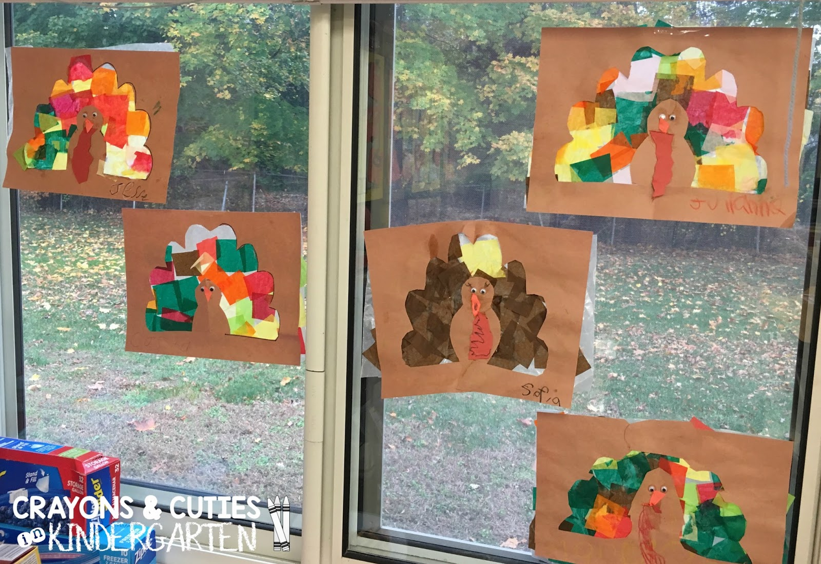 Crayons Amp Cuties In Kindergarten Stained Glass Tissue