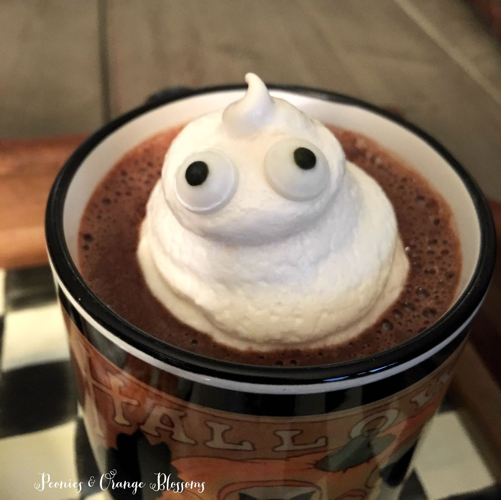 Ghost Hot Chocolate - Halloween Drink Party Ideas
