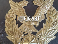 Logo Kuningan Mabes TNI AU Tembaga Kuningan