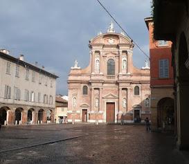 The Basilica di San Prospero in the square of the same name in Reggio Emilia