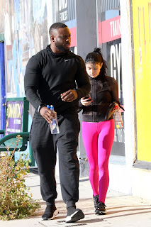 Ariel Winter in Black Top And Pink Tights
