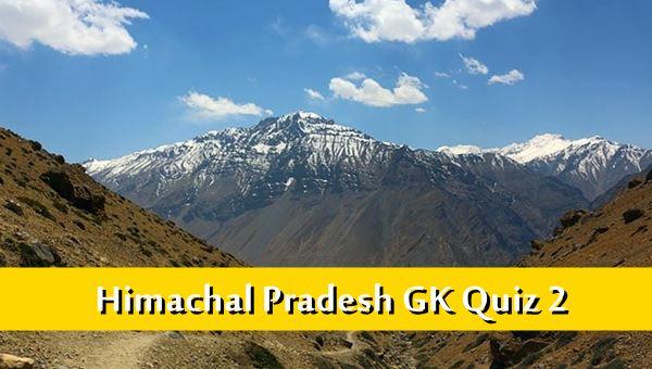 Himachal Pradesh History Gk Quiz Online MCQ-2