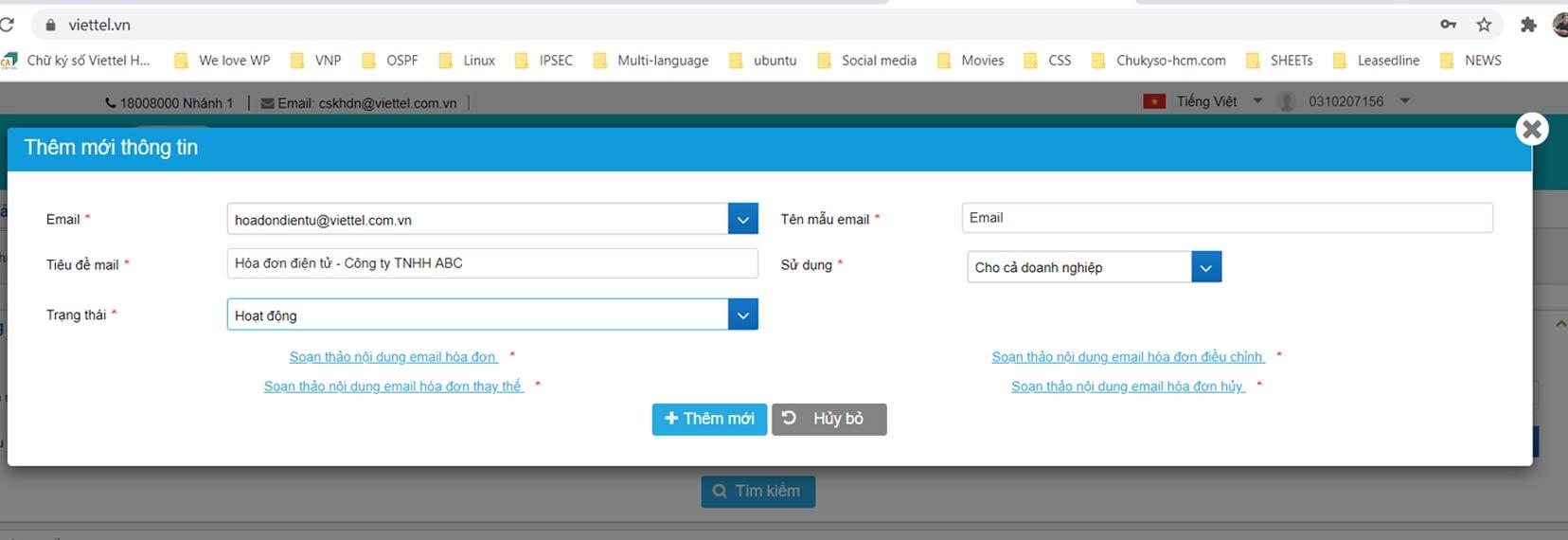 Hình 4 - Thông tin biểu mẫu email (mẫu)
