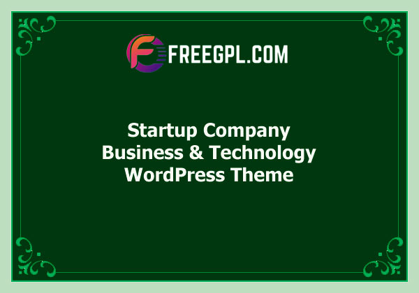 Startup Company - WordPress Theme for Business & Technology  Free Download