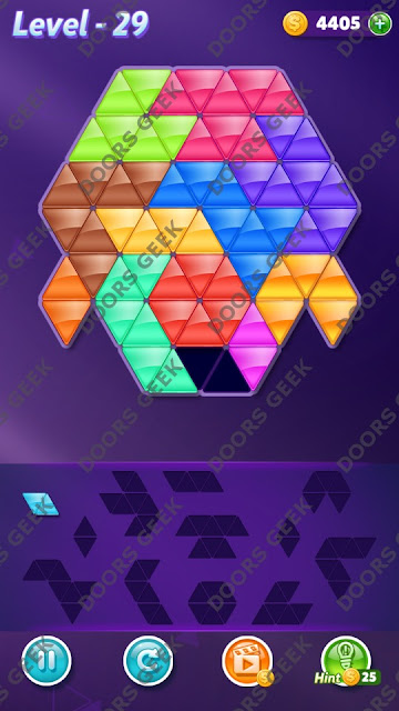 Block! Triangle Puzzle Grandmaster Level 29 Solution, Cheats, Walkthrough for Android, iPhone, iPad and iPod