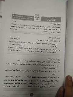 نموذج إجابة امتحان اللغة العربية للثانوية العامة 2019 دور أول 7