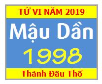 Tử Vi Tuổi Mậu Dần 1998 Năm 2019 Nam Mạng - Nữ Mạng