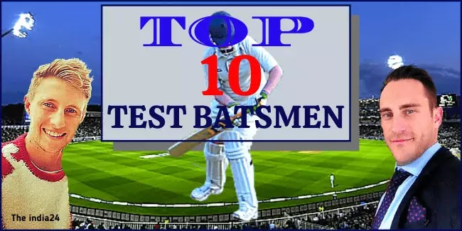 Latest Top Ten Test Ranking Batsman.