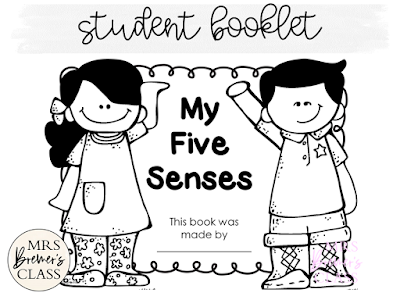 Five Senses learning ideas and fun activities with resources for teaching the 5 senses in Kindergarten- love the Potato Head craftivity! #fivesenses #5senses #kindergarten #kindergartenscience #science