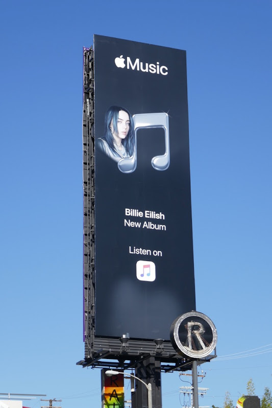 Apple Music Billie Eilish album billboard