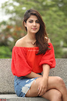 Rhea Chakraborty in Red Crop Top and Denim Shorts Spicy Pics ~  Exclusive 033.JPG