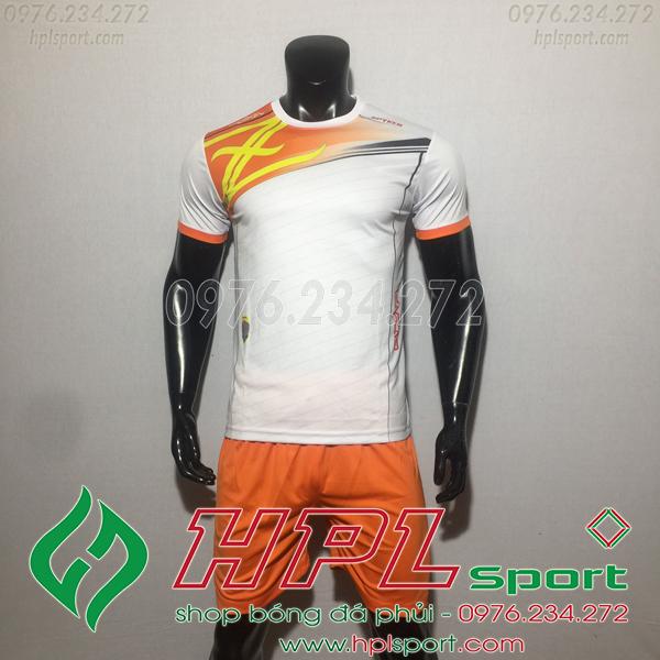 Áo bóng đá ko logo Zavikia HAT TA Màu Trắng