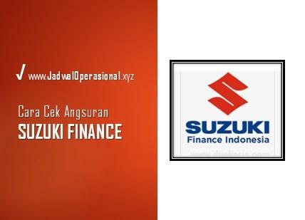 Cek Angsuran Suzuki Finance