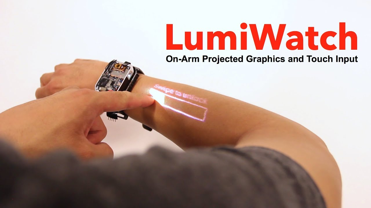 The LumiWatch smart watch turns your arm into a touch screen