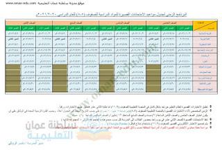 مواعيد ومحتوى الاختبارات القصيرة جميع المواد جميع الصفوف 2021
