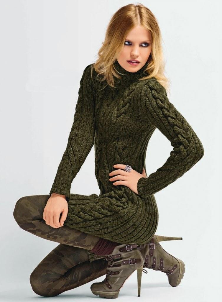 Зимние вязаные платья 2014 | Вязаные платья на все случаи ...