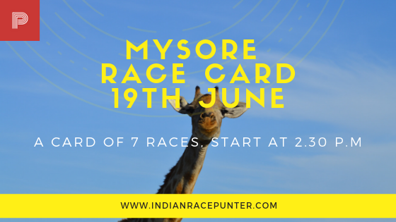 Mysore Race Card 19 June, Trackeagle, Racingpulse