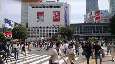 All the people crossing at Shibuya.
