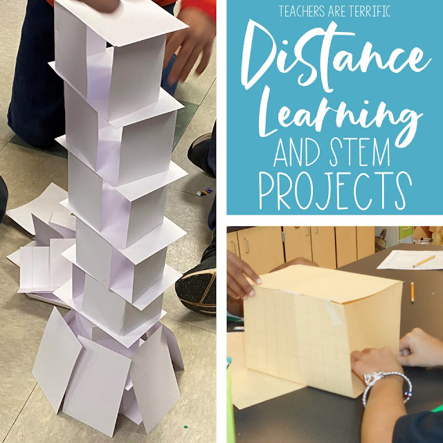 Ideas for Using STEM at Home| Distance Learning - This post will give you some ideas for STEM projects that students can complete while at home.